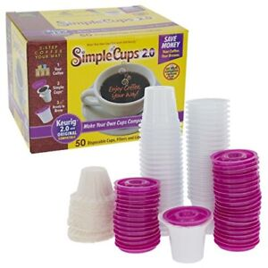 Disposable Cups for Use in Keurig? 2.0 Brewers - Simple Cups 2.0 - 50 Cups,