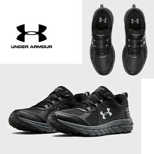 Under Armour Toccoa 2 Mens Trail Running Shoes Mens Black Sneakers NEW