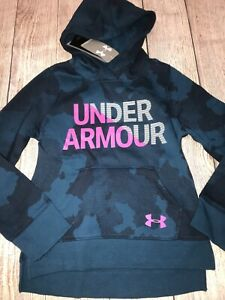 Under Armour Youth Small Navy Purple Hoodie Hooded Sweatshirt Camo Pattern $24.99