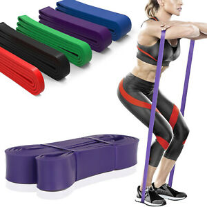 Resistance Band wide LOOP home exercise pilate yoga HEAVY Pull Up band exercise