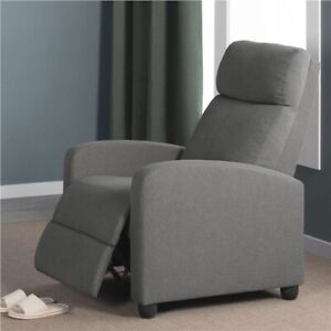 Fabric Recliner Chair Single Modern Sofa Home Theater Seating for Living Room $129.99