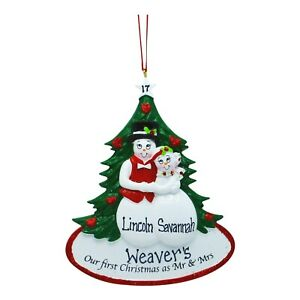 PERSONALIZED Our First Christmas As Mr Mrs 2021 Wedding Christmas Ornament $14.95