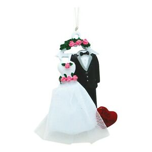 PERSONALIZED Bridal Gown amp; Tux 2020 Newlyweds Wedding Gift Christmas Ornament $14.95