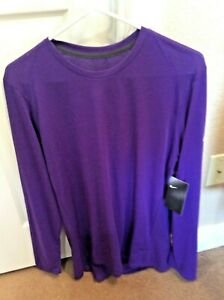 NWT NIKE Men's Large Short Sleeve DrI-Fit Training Shirt Purple Color $60 MSRP