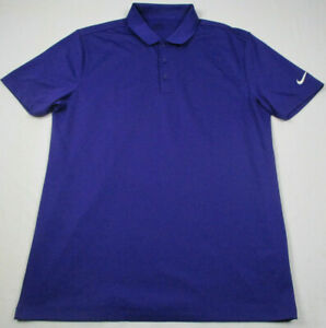 NIKE Golf Standard Fit Polo Shirt Mens Medium Solid Purple Dri Fit