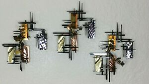 Ray Berger Mid Century Brutalist Abstract Metal Wall Sculpture Art Signed '95