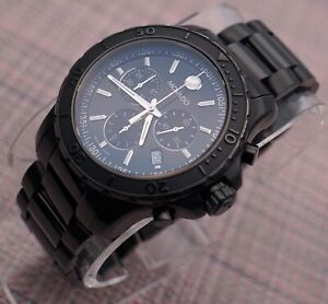 Auth Swiss Movado Series 800 Chronograph PVD Men's Model # 2600119 Retail $1495