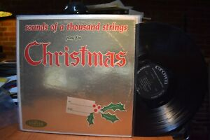 1000 Strings Sounds of a Thousand Strings play for Christmas LP Crown CLP5131 MN