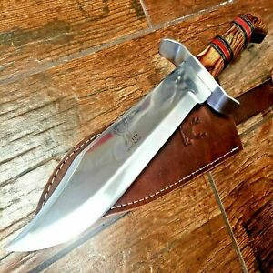 15 Full Tang TACTICAL Hunting Rambo Fixed Blade Camping Bowie Knife w Sheath