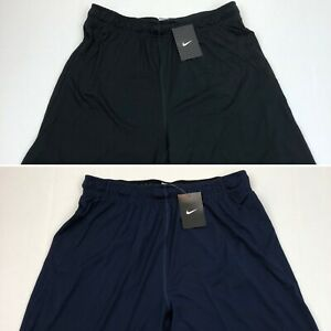 Nike Men's Dri Fit Shorts Training Running Jogging Black Blue Large XL XXL