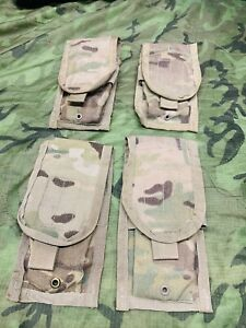 USGI OCP Multicam Molle II M4 Two Mag Magazine Pouch lot of 4 Pouches