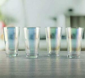 Circleware 76841 Radiance Set of 4 Heavy Base Highball Cooler Drinking Glasses