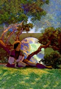 Knave of Hearts in the Meadow Maxfield Parrish
