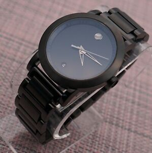 Swiss Movado Museum Sport Black PVD Coated S.S Men's Model # 0606615 Retail$1295