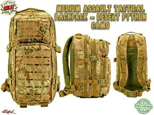 Assault Tactical Backpack Military Marines Special Forces Bag-Desert Python Camo