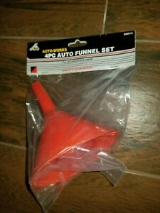 (Pack of 12) 4 Piece Plastic Funnel Set 12 Packs of 4