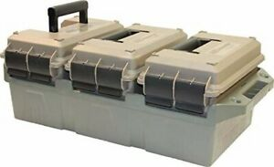 MTM AC3C 3-Can Ammo Crate (.50 Caliber) water-resistant O-ring seal Stackable