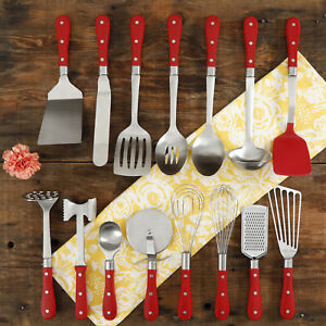 The Pioneer Woman Frontier Collection 15piece All in One Kitchen Utensil Set Red