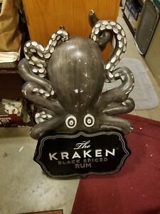THE KRAKEN BLACK SPICED RUM OCTUPUS  DISPLAY used 44