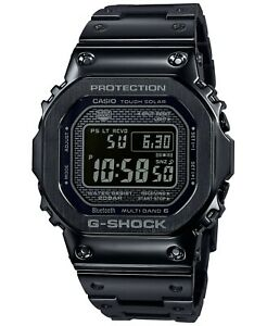 Casio G-Shock Men's Solar Digital Black Stainless Steel Watch GMWB5000GD-1