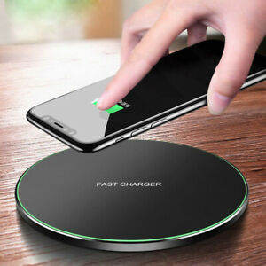 Qi Wireless Charger Charging Dock Pad Mat For Samsung S10 iPhone 8 X XS 15W Fast