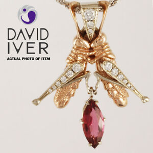 DAVID IVER Design Solid 14k Gold Diamond