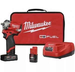 Milwaukee 2554-22 M12 FUEL Stubby Cordless 3/8