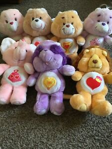 vintage care bears and cousins lot of 7 share bear is original