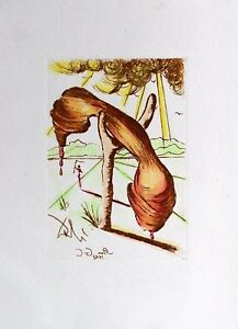 Salvador Dali Etching Soft Telephone Collector#x27;s Guild Circa 1968 C $499.00