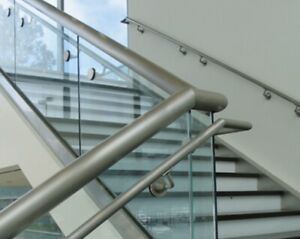 CRL/Blumcraft Brushed Stainless Imperial Series Glass Mounted Hand Rail Bracket