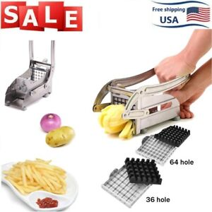Stainless Steel French Fries Cutter Vegetable Potato Chopper Slicer 2 Blades HOT