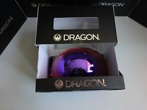 Dragon X1 Abstract Purple Ion & Lumalens Amber Snow Goggle NIB New 2019