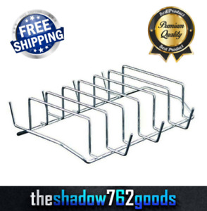 6 RACK GRILL STEEL For Barbeque Rib Oven Smoker Bbq Outdoor Indoor Easy To Clean