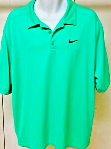 NIKE  Dry-Fit  Bright Green Athletic Golf Polo Men's Shirt _ Size XL