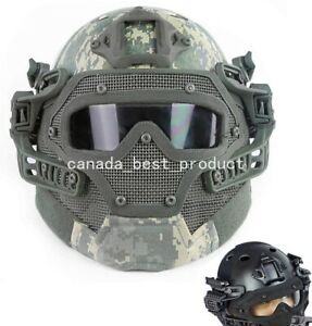 Tactical Airsoft Paintball Fast Helmet Goggles G4 System Full Face Mask ACU $108.89