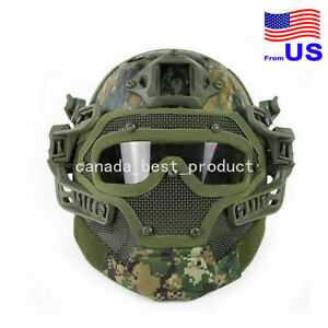 Tactical Airsoft Paintball Fast Helmet Goggles G4 System Full Face Mask DW USA $93.59