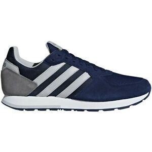 Mens Adidas 8K Navy Athletic Running Lifestyle Sport Shoes B44669 Size 10.5