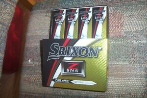 2 dozen BRAND NEW Srixon Z Star  mens white 2017 golf balls