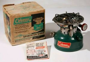 Vintage Coleman No. 502 Single Burner Camp Stove Dated 2 - 67