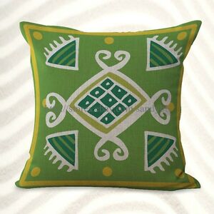 summer garden green geometric cushion cover throw cover $14.98