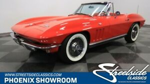 1966 Chevrolet Corvette Convertible Vette L79 V8 Manual Red Factory Original Classic Vintage Collector Droptop Chevy