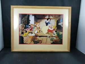 Disney Store's Snow White Exclusive Commemorative Matted & Framed Lithograph1994 $12.00