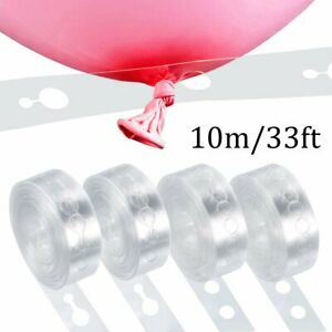 10m Balloon Chain Tape Arch Connect Strip for Wedding Birthday Party Decoration
