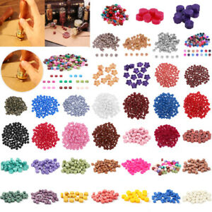 100pcs DIY Vintage Sealing Wax Beads For Stamp Envelope Wedding Invitation Card