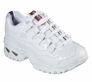 SKECHERS ENERGY THRILLER KNIGHT WHITE Women#x27;s Casual Athletic Sneakers 13405