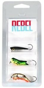 ☆BEST DEAL☆ 3 Pk REBEL Lures Micro Critters Minnow Grasshopper Crawfish Crappie