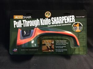 Fortune Products AccuSharp® Pull-Through Knife Sharpener (039C) ORANGE/GREEN(W2)