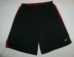 NIKE DRI-FIT MEN'S BLACKRED SHORTS SIZE XXL(2XL) WITH SIDE POCKETS ATHLETIC