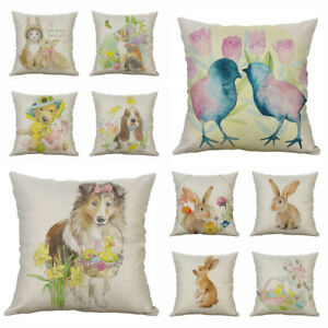 Throw Cushion Home Cover Pillow Decor Print Animal Case 18#x27;#x27; Cotton Linen $3.09