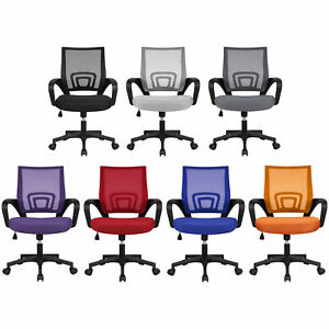 Adjustable Ergonomic Mesh Swivel Computer Office Desk Task Rolling Chair MidBack $49.99